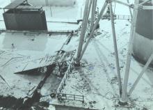Крыша 3-его энергоблока Чернобыльской АЭС