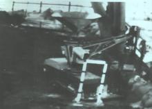 """Установка маяков контроля толщины бетона на крыше зоны """"М"""" с помощью «Мобот-Ч-ХВ-2» (фото сделано с мониторов пульта управления)"""