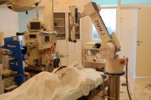 Испытания  манипулятора «РММ-2» в операционной ЦКБ РАН