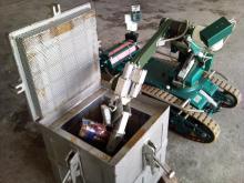 Отработка укладки взрывоопасного предмета в защитный контейнер